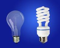 Lampade economizzarici d'energia Immagini Stock Libere da Diritti