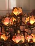 Lampade a forma di del tempiale del loto Fotografie Stock Libere da Diritti