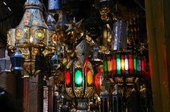 Lampade marocchine tradizionali Fotografia Stock