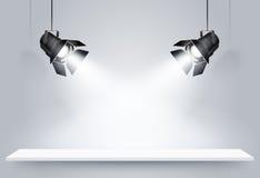 Lampade nere del soffitto Vettore Fotografia Stock