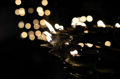 Lampade a olio alla notte Fotografia Stock Libera da Diritti