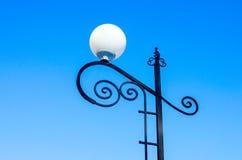 Lampade rotonde della via fotografie stock