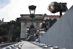 Lampade sul ponte Fotografia Stock
