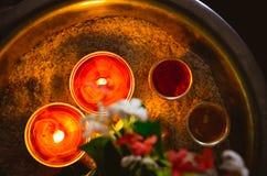 Lampade tradizionali di Indain fotografia stock libera da diritti
