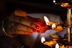 Lampade tradizionali di Indain Fotografia Stock