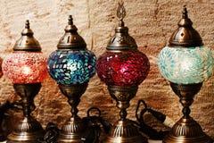 Lampade turche tradizionali del mosaico da vendere Fotografia Stock Libera da Diritti