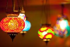 Lampade variopinte della lanterna Immagini Stock Libere da Diritti