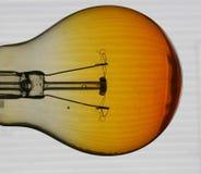 Lampadina ambrata Fotografie Stock