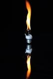 Lampadina ardente incandescente Fotografie Stock