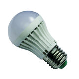 Lampadina del LED isolata su fondo bianco Immagine Stock Libera da Diritti