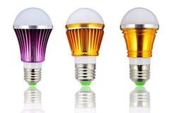 Lampadina del nuovo tipo LED o lampadina economizzatrice d'energia Fotografia Stock Libera da Diritti