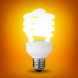 Lampadina del risparmiatore di energia Fotografia Stock
