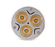 Lampadina del risparmio energetico LED su fondo bianco Fotografia Stock