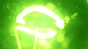 Lampadina del tungsteno video d archivio