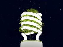 Lampadina della luce fluorescente illustrazione di stock