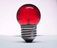 Lampadina della luce rossa Fotografie Stock