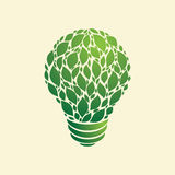 Lampadina della luce verde Fotografie Stock Libere da Diritti