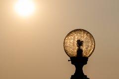 Lampadina della siluetta Fotografia Stock