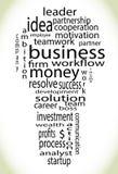 Lampadina di affari di Wordcloud Immagini Stock
