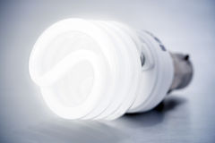 Lampadina di CFL Fotografie Stock