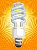Lampadina di CFL Immagini Stock