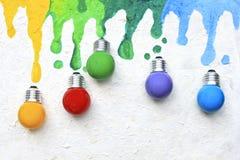 Lampadina di colore Fotografia Stock