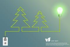 Lampadina di Iight dell'albero di Natale fotografie stock libere da diritti