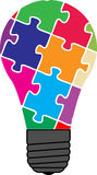 Lampadina di puzzle Fotografia Stock