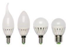Lampadina di risparmio di energia del LED. Diodo luminescente. Fotografia Stock Libera da Diritti
