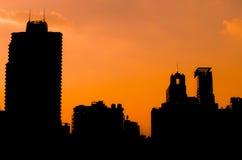 Lampadina di una città della costruzione Immagine Stock Libera da Diritti