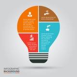 Lampadina di vettore per infographic Fotografia Stock