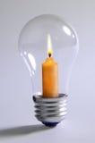 Lampadina e candela Fotografie Stock Libere da Diritti