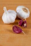 Lampadina e chiodi di garofano dell'aglio Fotografie Stock