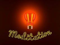 Lampadina e meditazione illustrazione di stock