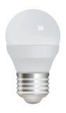 Lampadina economizzatrice d'energia su fondo bianco Fotografia Stock
