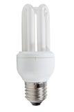 Lampadina economizzatrice d'energia su una priorità bassa bianca Immagine Stock Libera da Diritti