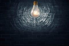Lampadina elettrica luminosa Fotografia Stock Libera da Diritti