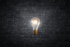 Lampadina elettrica luminosa Fotografia Stock