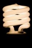 Lampadina fluorescente fotografie stock