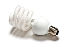 Lampadina fluorescente compatta Immagine Stock Libera da Diritti