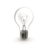 Lampadina, isolata sull'illustrazione bianca 3D Fotografia Stock Libera da Diritti