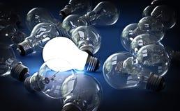Lampadina luminosa Fotografia Stock Libera da Diritti