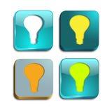 Lampadina quadrata della luce a livello Illustrazione di Stock