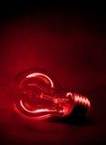 Lampadina rossa Fotografie Stock