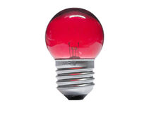 Lampadina rossa su bianco Fotografie Stock