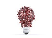 Lampadina rotta della luce rossa Immagini Stock