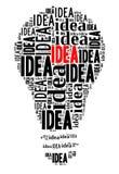 Lampadina sul concetto di IDEA Illustrazione di Stock