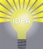 Lampadina tipografica di IDEA Illustrazione di Stock