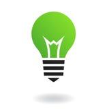 Lampadina verde Fotografie Stock Libere da Diritti