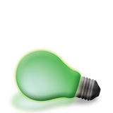 Lampadina verde Immagini Stock